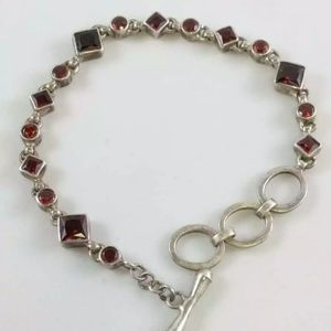 """DEACI FONI VINTAGE 8"""" Genuine garnet bracelet"""